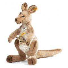 Steiff Kango Kangaroo with baby EAN 064623