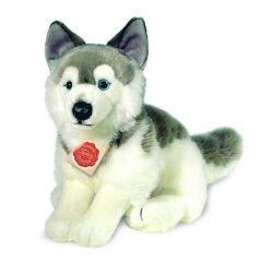 Husky plush dog 927297 Hermann Teddy Original