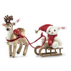Steiff EAN 006067 Kerst slee set